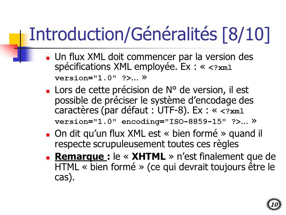 Introduction/Généralités [8/10]